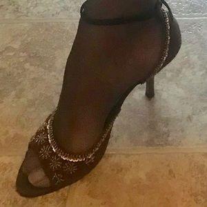 3 inch brown heels